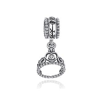 Per corona in 925 charms in argento perle