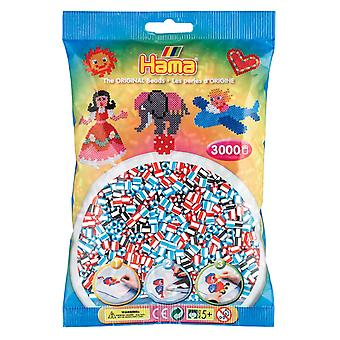 Hama Striped Beads - 3000 Beads