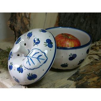 Bakt eple, Ø 12 cm, 12 cm høy, polsk 22 tradisjonell keramikk - BSN 6858