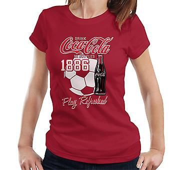 Coca Cola Football Play Refreshed Women's T-Shirt