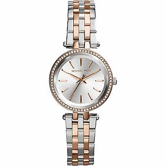 Michael Kors Watches Mk3298 Ladies Darci Silver & Rose Gold Watch