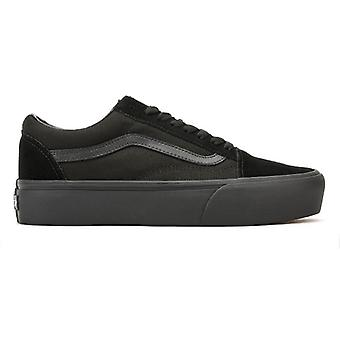 Vans Womens Black / Black Old Skool Platform Trainers