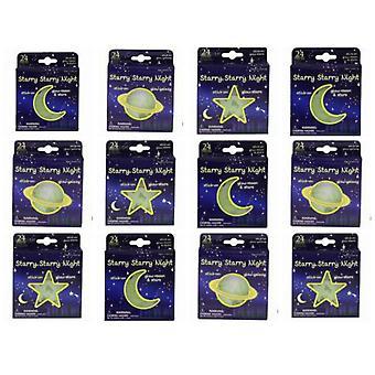 12 opakowań blask w Dark Moon & gwiazd - 3 wzory doc