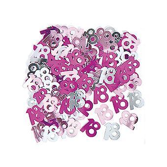 Verjaardag Glitz Pink - 18e verjaardag Confetti