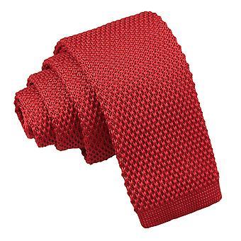 Crimson Red gebreide stropdas voor jongens