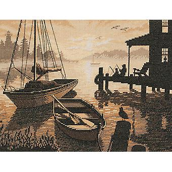 Peaceful Silhouette Counted Cross Stitch Kit-13