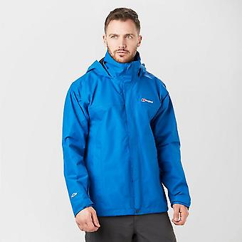 New Berghaus Men's RG Alpha Walking Hiking Waterproof Jacket Blue