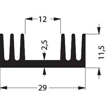Heat sink 7.2 C/W (L x W x H) 50 x 29 x 11.5 mm TO 220, SOT 32 Fischer Elektronik SK 09 50 SA