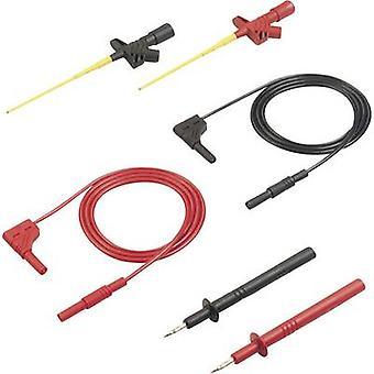 SKS Hirschmann MMS 2030 Safety test lead et [Banana jack 4 mm - Banana jack 4 mm] 1 m Black, Red