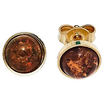 Bursztyn kolczyki 333 złoty żółty złoto 2 bursztyn kolczyk złoto