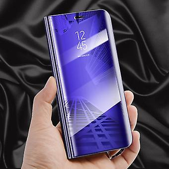 For Apple iPhone X / 10 / XS 5.8 inch clear view mirror mirror smart cover purple pouch bag case new case wake UP function