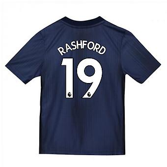2018-2019 Man Utd Adidas Third Football Shirt (Kids) (Rashford 19)