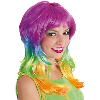 Wig fantasy Rainbow colorful Unicorn