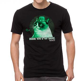 Grumpy Cat Irish Grumpy Men's Black Funny T-shirt