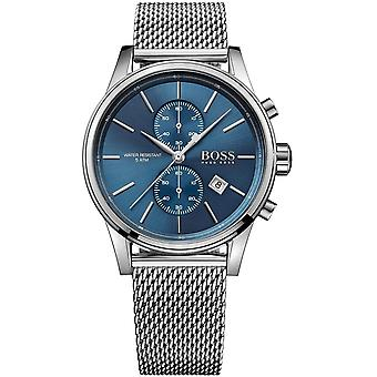 Hugo Boss Mens' Jet Chronograph Watch - 1513441 - Blue/Steel