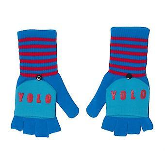 LOL Flap gloves blue