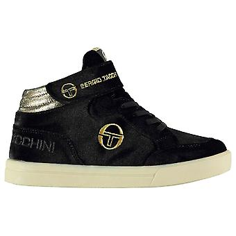 Sergio Tacchini Girls Base Velvet Childs Hi Top Trainers Padded Ankle Collar