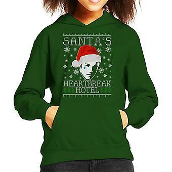 Elvis Presley Christmas Santas Heartbreak Hotel Kid's Hooded Sweatshirt