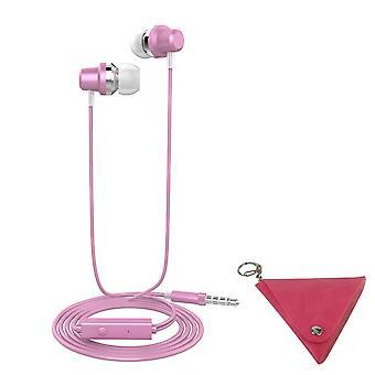 LANGSDOM J10 3.5 mm bas Stereo hoofdtelefoon-roze