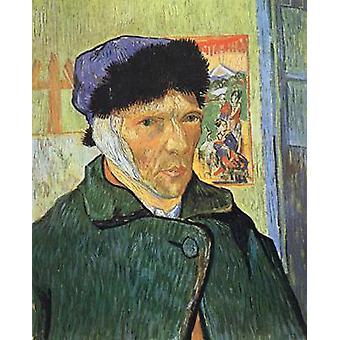 Self-portrait with Bandaged Ear, Vincent Van Gogh, 60x49cm