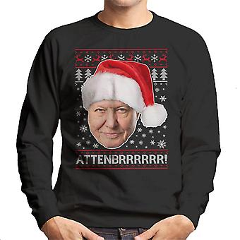 Attenbrrrrrr David Attenborough Christmas Knit Men's Sweatshirt