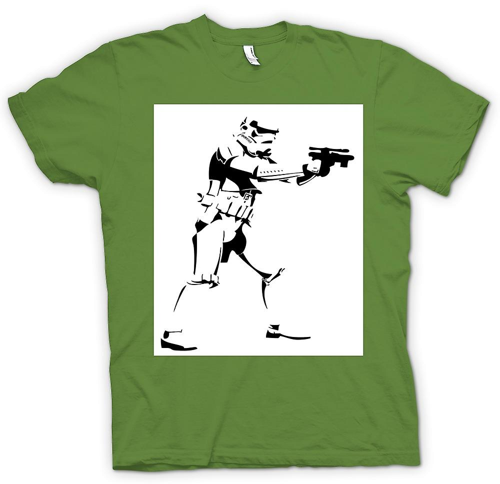 Mens t-skjorte-Star Wars - Storm Trooper - Pop Art