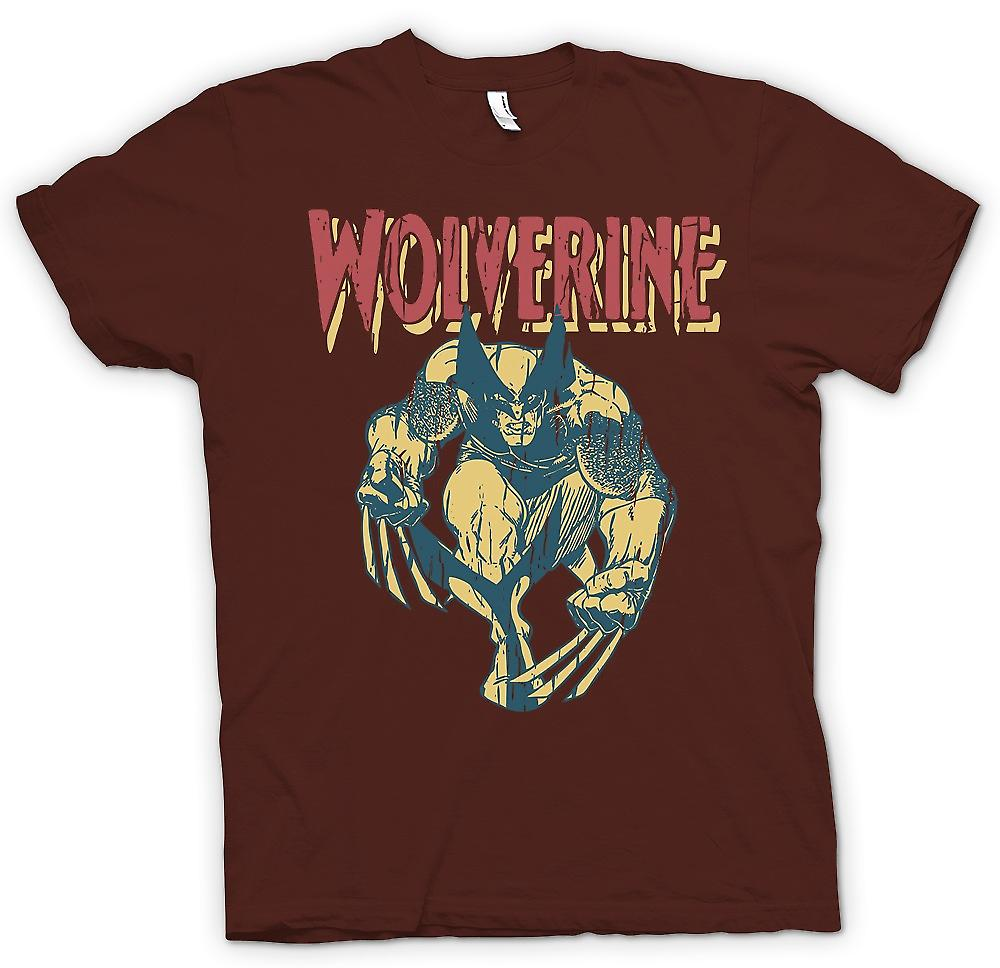 Mens T-shirt - Wolverine Superhero Claws Of Steel