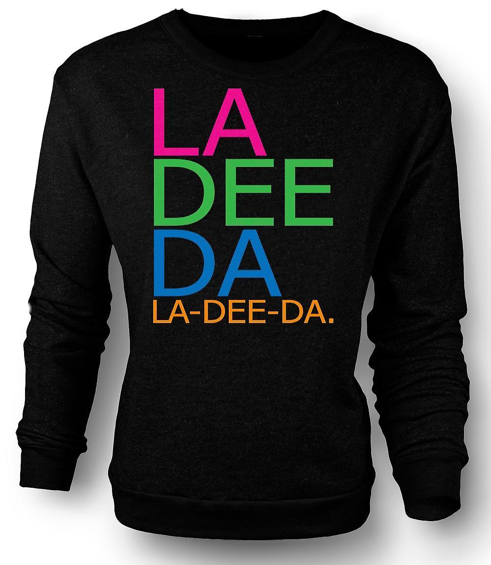 Mens Sweatshirt Annie Hall La Dee Da - morsom