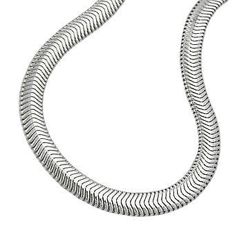 Armband 6mm slang plat glanzende 925 zilveren 19cm