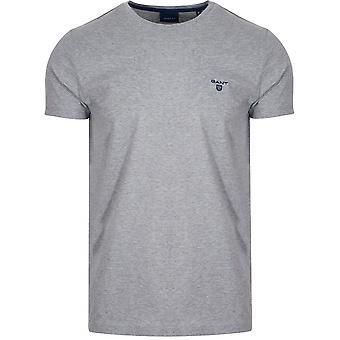 Gant GANT grijs klassieke bemanning hals T-Shirt