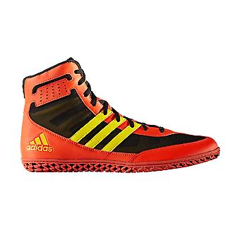 adidas Mat Wizard 3 Mens Adult Wrestling Trainer Shoe Boot Red/Black