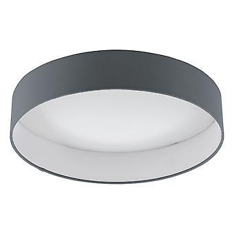 Eglo - Palomaro Single luz LED Flush teto cabendo em branco acrílico e tela cinzenta terminam EG96538