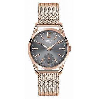 Henry London Finchley Rose guld maske grå Dial HL30 UM 0116 Watch