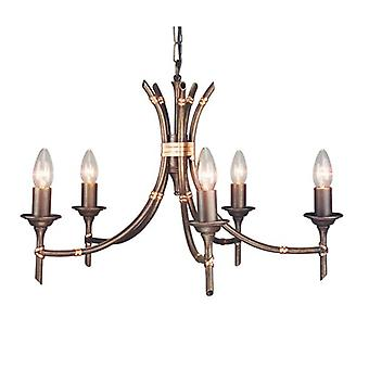 Themed 5 Arm Chandelier in a Bronze Patina