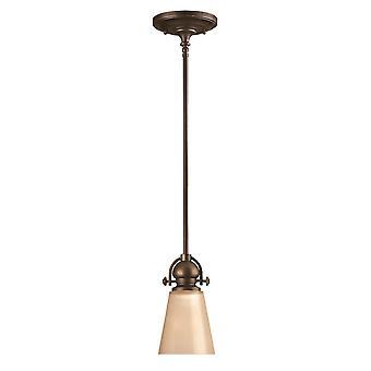 Elstead - 1 Light Ceiling Mini Pendant Olde Bronze - HK/MAYFLOWER/P/A