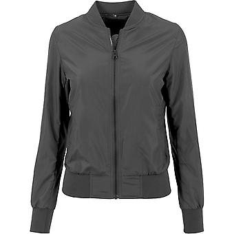 Baumwollberater Frauen Nylon Casual Zip Up Bomber Jacket