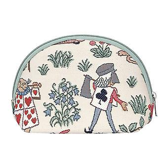 Alice in wonderland cosmetic bag by signare tapestry / cosm-alice