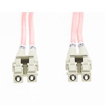5M Lc Lc Om1 Multimode Fibre Optic Cable Salmon Pink