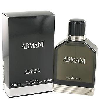 Armani Eau De Nuit by Giorgio Armani Eau De Toilette Spray 3.4 oz / 100 ml (Men)