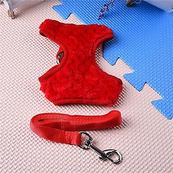Harnais gilet rouge fausse fourrure & ensemble plomb