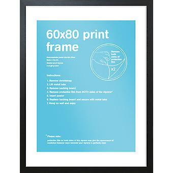 Eton negro marco 60x80cm cartel / impresión marco
