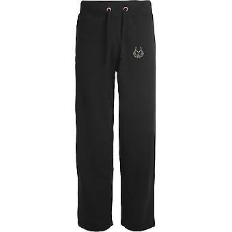 Gordon Highlanders - Licensed British Army Embroidered Open Hem Sweatpants / Jogging Bottoms
