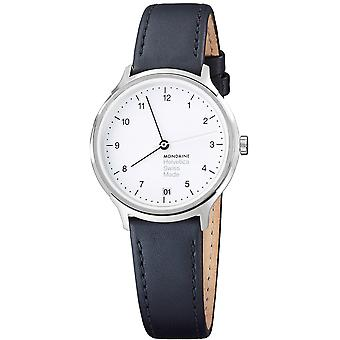 Mondaine Helvetica Black Leather Strap Ladies Watch MH1.R1210.LB 33mm