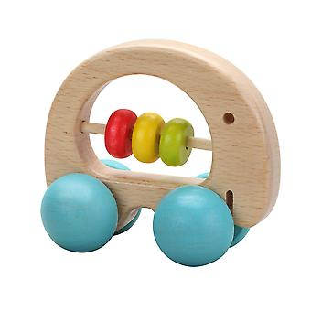 Classic World - Wooden Elephant Rattle Clutch Toy and Push Along Toy for Babies and Toddlers from 6 months