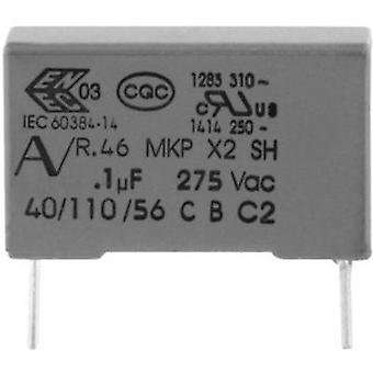 MKP suppression capacitor Radial lead 330 nF 275 V 20 % 22.5 mm (L x W x H) 26.5 x 7 x 16 Kemet R46KN333000M1M+ 1 pc(s