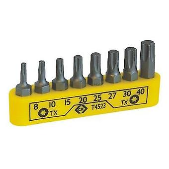 Bit set 8-piece C.K. T4523 TORX socket