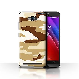 STUFF4 Case/Cover for Asus Zenfone Max ZC550KL/Brown 2/Camouflage Army Navy