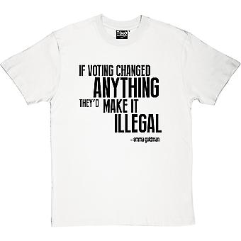 If Voting Changed Anything... Men's T-Shirt