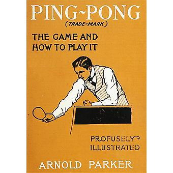 Ping-pong 1902 Poster Print by Unknown