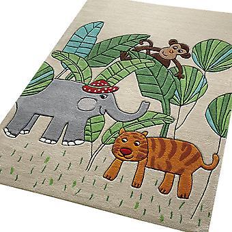 Jungle amis tapis 3983 01 en bleu